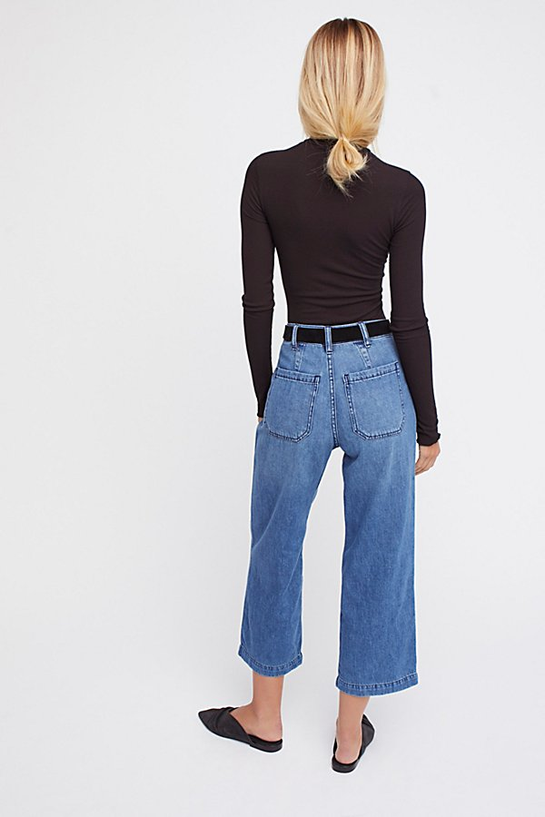 Slide View 2: Pleated Denim Trouser
