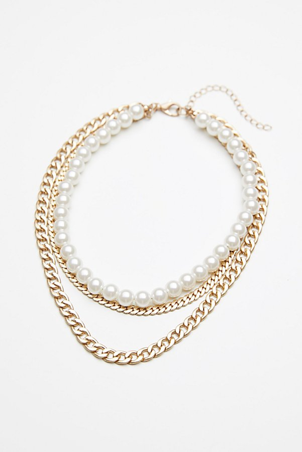 Slide View 2: Maya Pearl Chain Layered Collar