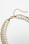 Thumbnail View 3: Maya Pearl Chain Layered Collar
