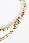 Thumbnail View 4: Maya Pearl Chain Layered Collar