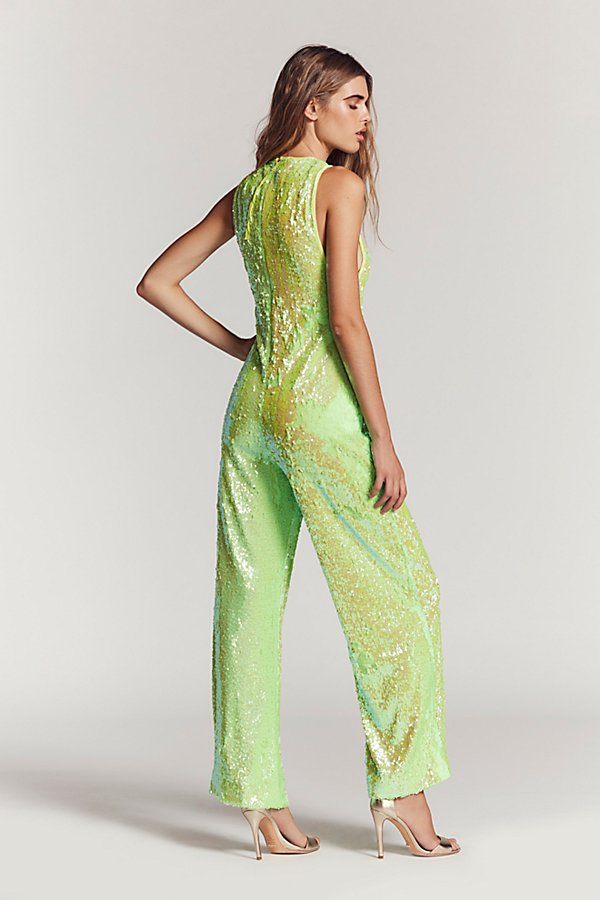 Slide View 3: Starbright Sequin Jumpsuit