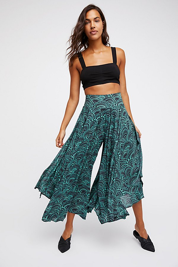 Slide View 1: Floral Fields Maxi Culotte