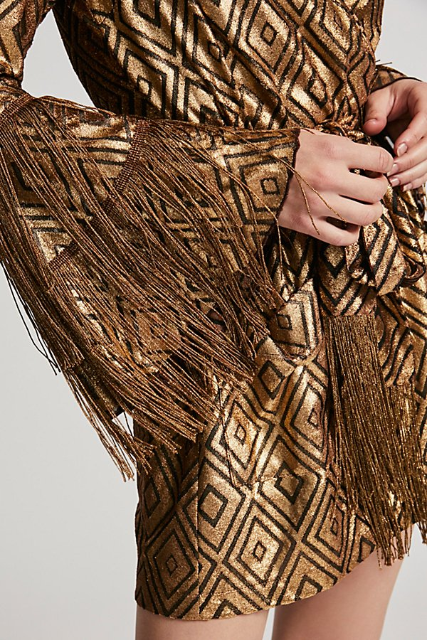 Slide View 2: Foiled Diamonds Wrap Dress