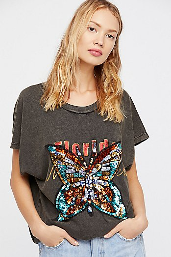 We The Free Butterfly Valentine Tee