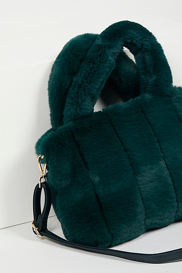 Slide View 4: Dolce Faux Fur Tote