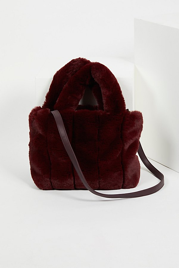 Slide View 3: Dolce Faux Fur Tote