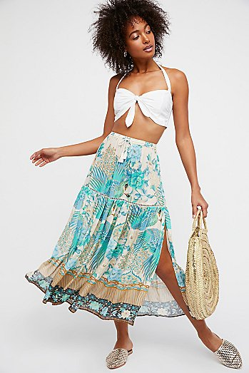 Cloud Dancer Maxi Split Skirt