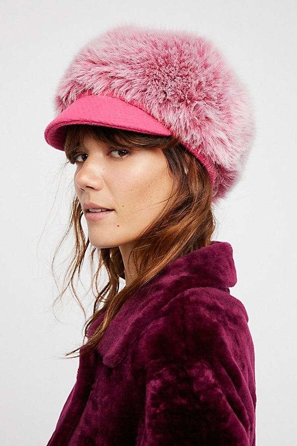 Slide View 3: Get A Clue Faux Fur Cap