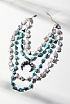 Thumbnail View 4: Turquoise x Pearl Layered Moonstone Necklace