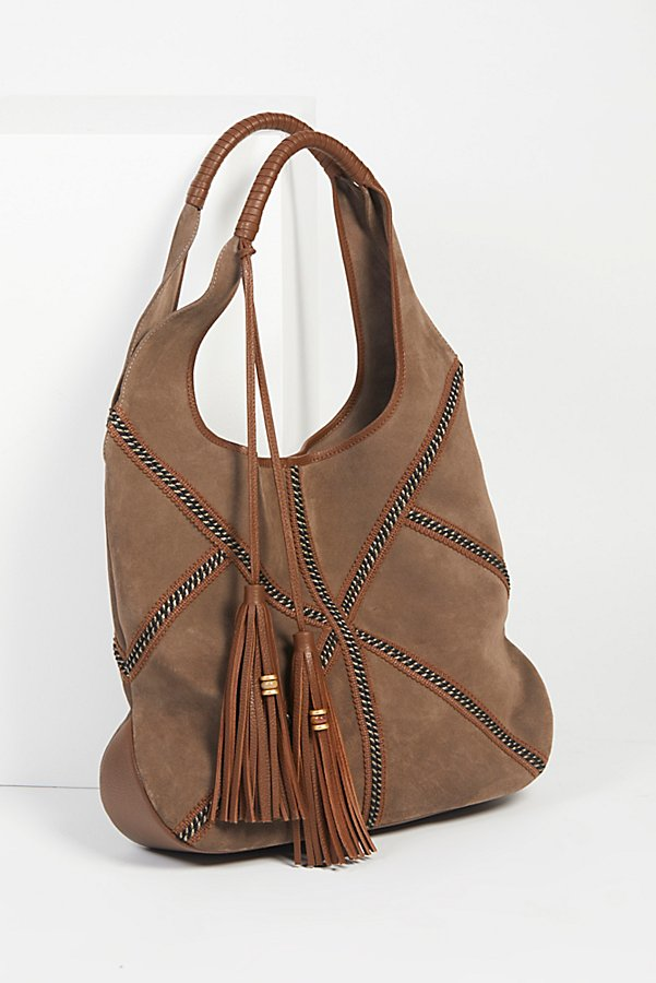 Slide View 1: Mali Suede Hobo