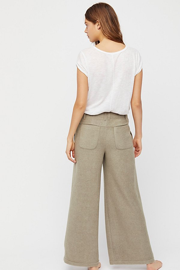 Slide View 3: Fleece Wide Leg Trousers