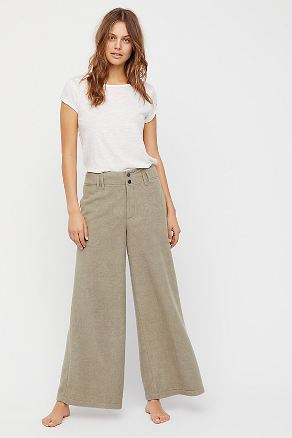 Slide View 1: Fleece Wide Leg Trousers