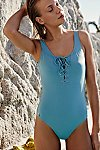 Thumbnail View 4: Sunchaser Lace-Up One-Piece Swimsuit