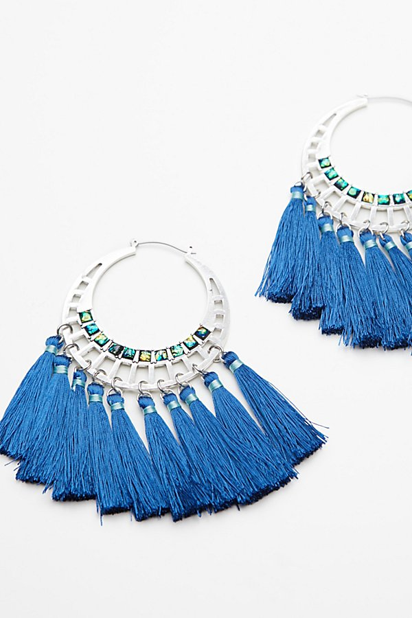 Slide View 2: Swept Away Tassel Hoops