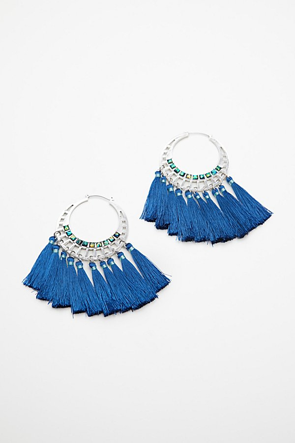 Slide View 3: Swept Away Tassel Hoops