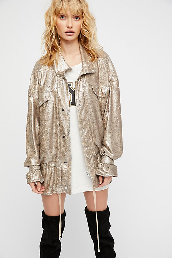 Slide View 3: Slouchy Sequin Jacket