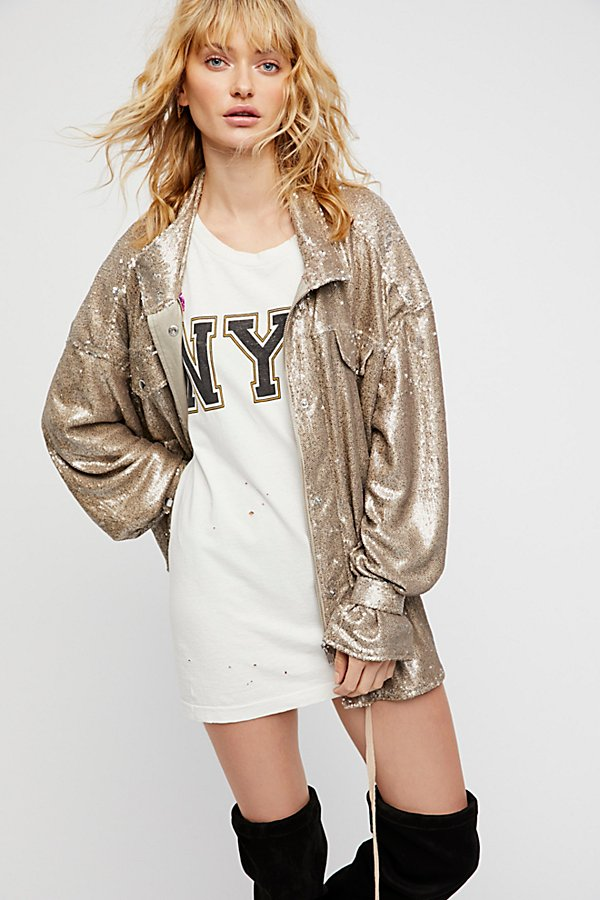 Slide View 4: Slouchy Sequin Jacket