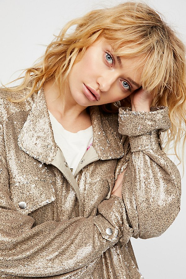 Slide View 6: Slouchy Sequin Jacket