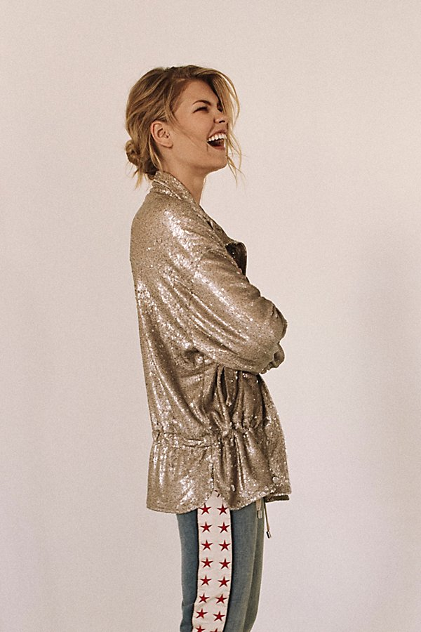 Slide View 1: Slouchy Sequin Jacket