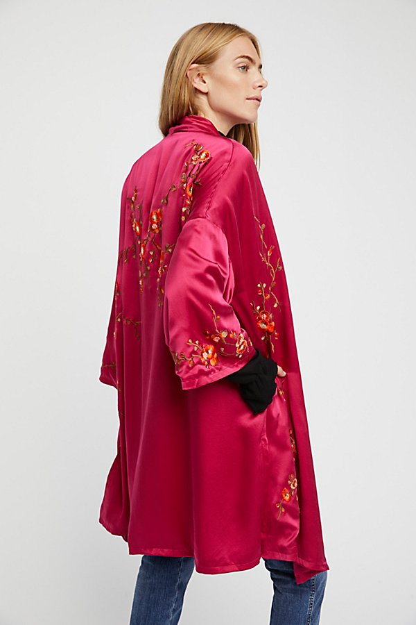 Slide View 2: Embroidered Silk Kimono
