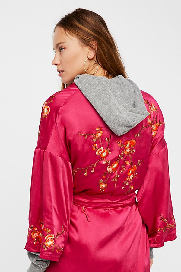 Slide View 10: Embroidered Silk Kimono