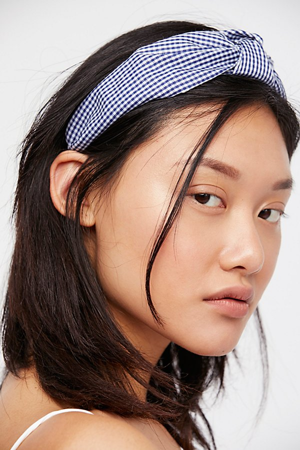 Slide View 1: Gingham Knotted Headband