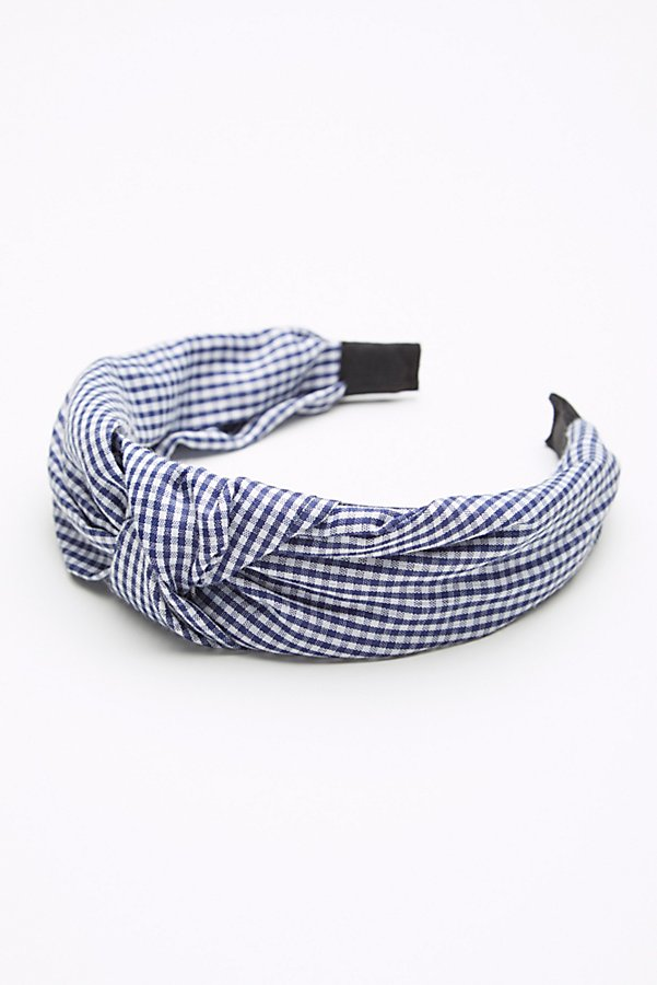Slide View 2: Gingham Knotted Headband