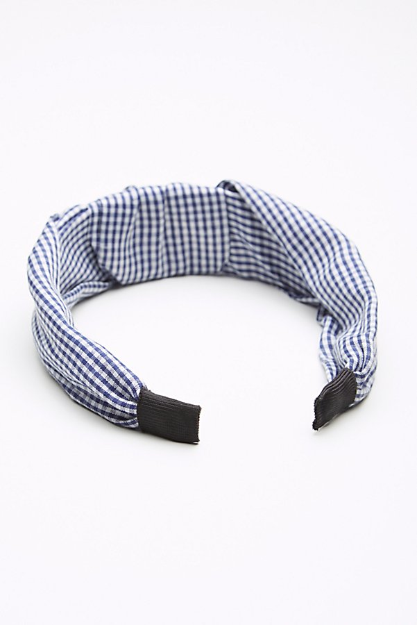 Slide View 3: Gingham Knotted Headband