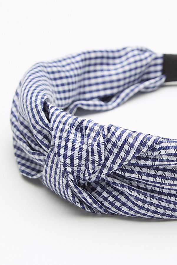 Slide View 4: Gingham Knotted Headband