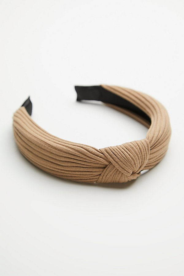 Slide View 2: Ribbed Knot Headband