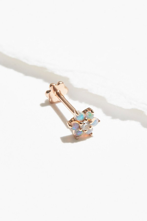 Slide View 1: 5mm Opal Flower Diamond Threader