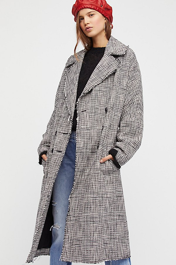 Slide View 1: Menswear Plaid Coat