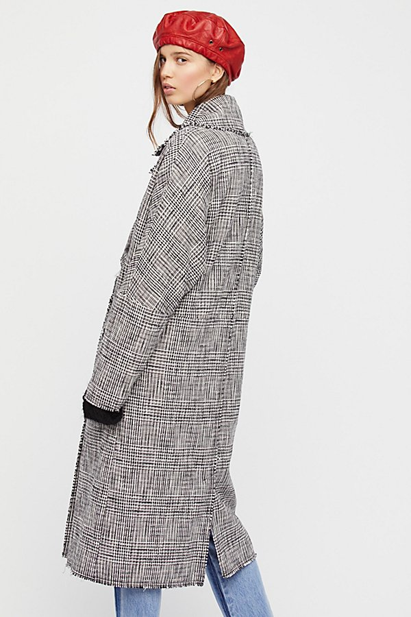 Slide View 2: Menswear Plaid Coat