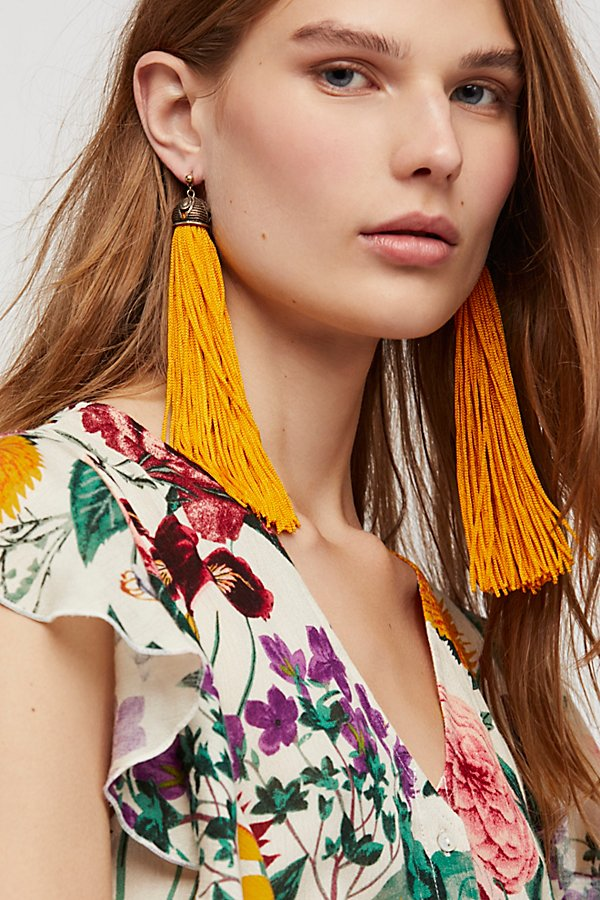 Slide View 1: Two To Tango Tassel Earrings