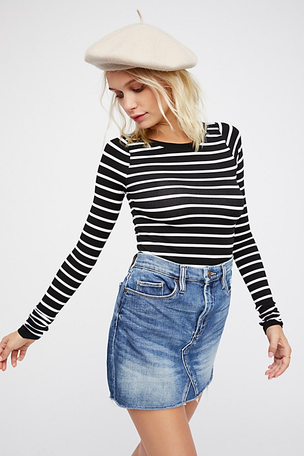 Slide View 3: Seamless Stripe Layering Top