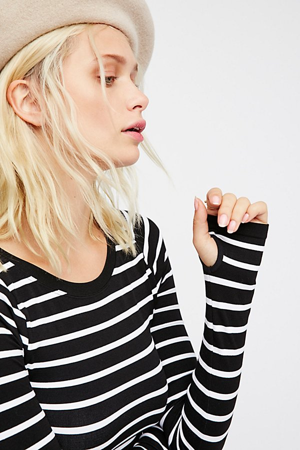 Slide View 5: Seamless Stripe Layering Top