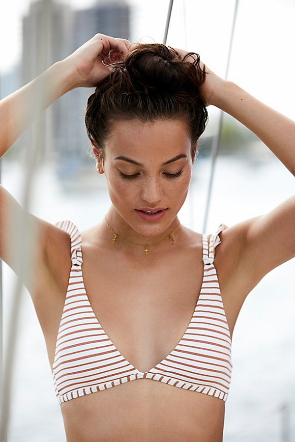 Slide View 3: Kingsley Striped Bikini Top
