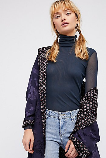 Meshed Up Long Sleeve Top