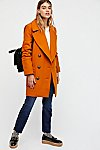 Thumbnail View 1: Naiomi Solid Wool Peacoat