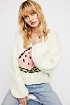 Thumbnail View 1: Watermelon Crop Pullover