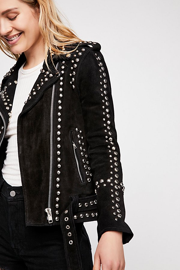 Slide View 3: Studded Easy Rider Jacket