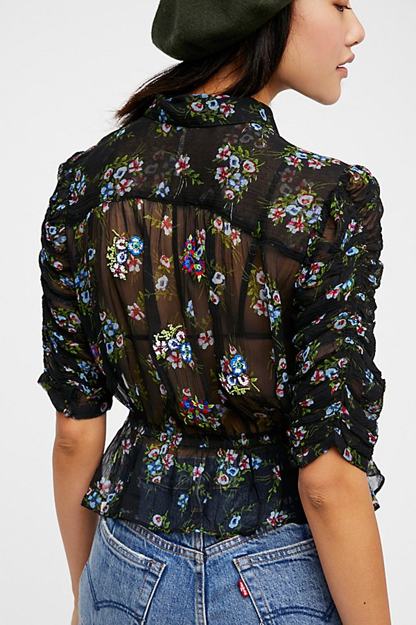 Slide View 2: Buttercup Embellished Buttondown