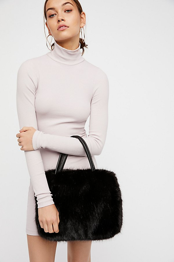 Slide View 1: Rosa Faux Fur Tote