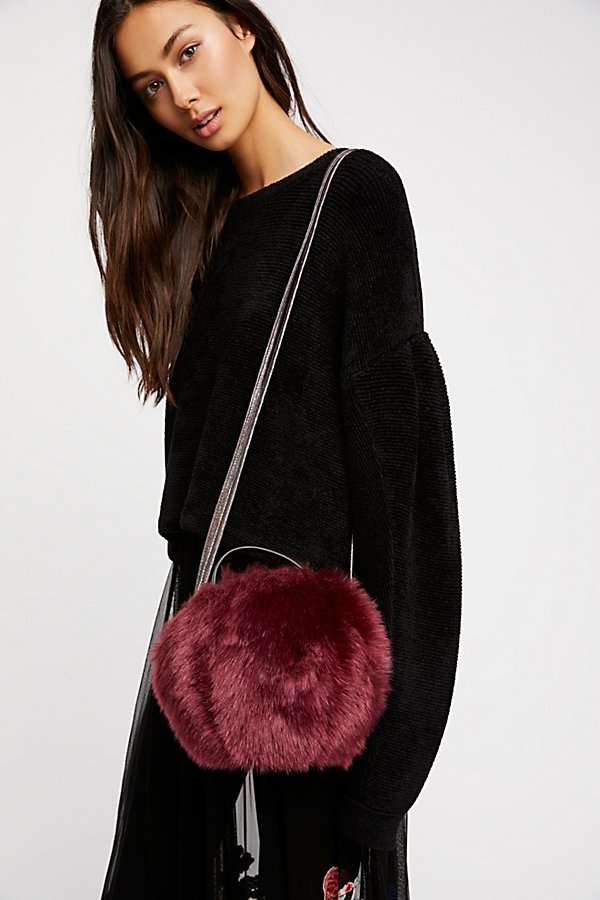 Slide View 1: Cleo Faux Fur Crossbody