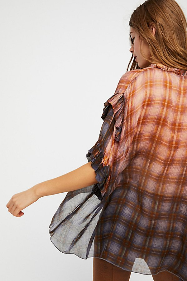 Slide View 3: FP One Magda Plaid Blouse