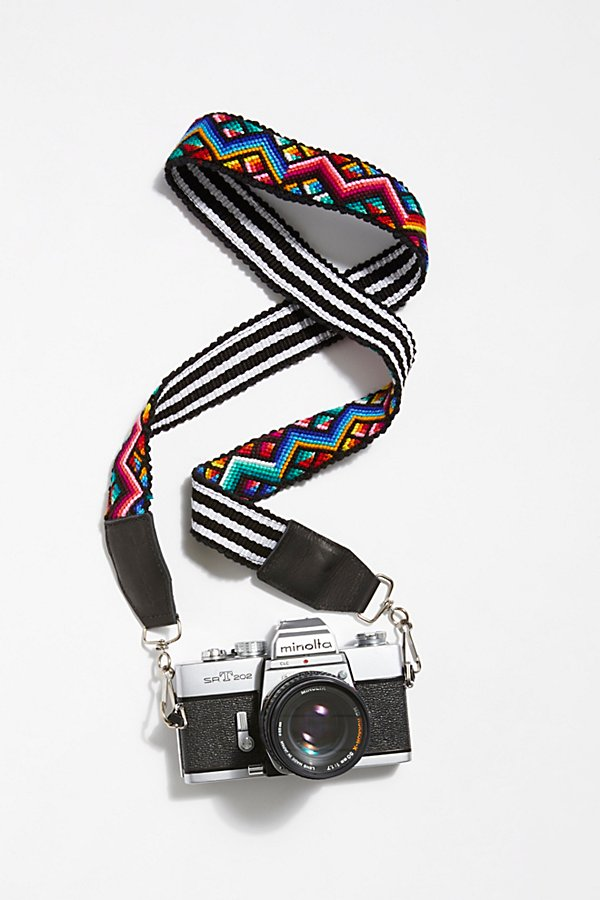 Slide View 1: Leather Embroidery Camera Strap