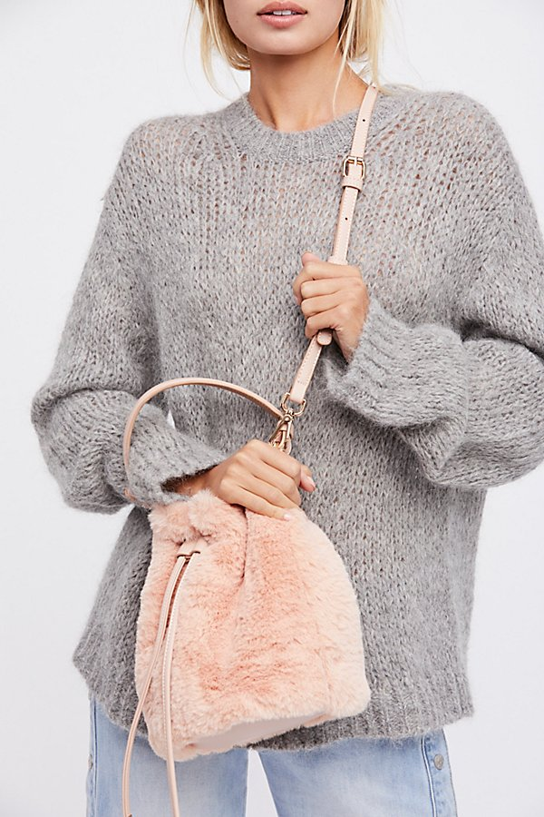 Slide View 1: Faux Fur Bucket Bag