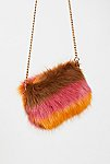Thumbnail View 2: Striped Faux Fur Crossbody