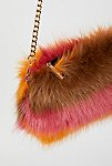 Thumbnail View 3: Striped Faux Fur Crossbody