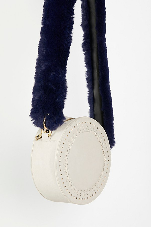 Slide View 1: Faux Fur Long Bag Strap